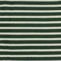 Tissu molleton sweat écru rayé vert 180cm - 468