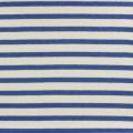 Tissu molleton sweat écru rayé bleu 180cm - 468