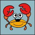 Kit canevas soudan 20/20cm crabe - 47