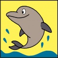 Kit canevas soudan 20/20cm dauphin - 47