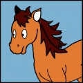 Kit canevas soudan 20/20cm poney - 47