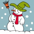 Kit canevas soudan 20/20cm bonhomme de neige - 47
