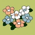 Kit canevas soudan 20/20cm fleurs - 47