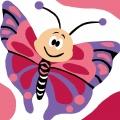 Kit canevas soudan 20/20cm papillon - 47