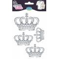 Sticker textile aladine couronne glitter - 470
