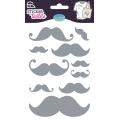 Sticker textile aladine moustache glitter - 470