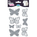 Sticker textile aladine papillon glitter - 470