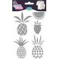 Sticker textile aladine fruits exotiques glitter - 470
