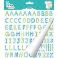 Sticker textile aladine alphabet vichy bleu - 470