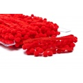 Galon pompon 18mm rouge - 471