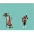 Panneau jersey 120 x 150 cm Stenzo horse caraïbes - 474