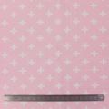 Tissu stenzo jersey croix blanc rose - 474