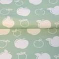 Tissu stenzo jersey pomme blanc menthe - 474