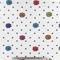 Tissu stenzo jersey fleur pois blanc - 474