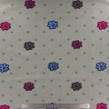 Tissu stenzo jersey fleur pois gris - 474