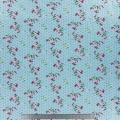 Tissu stenzo jersey fleurettes pois bleu - 474