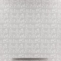 Tissu stenzo jersey animaux la ferme gris - 474