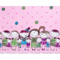 Tissu stenzo jersey bambinos rose - 474