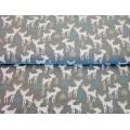 Tissu Stenzo jersey mélangé bambi forêt 150cm - 474