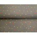 Tissu Stenzo jersey fond noir minis motifs 150cm - 474