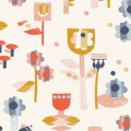 Tissu Dashwood coton paper meadow - 476