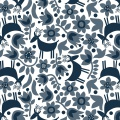 Tissu Dashwood snow forest - 476
