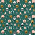 Tissu Dashwood geo forest - 476