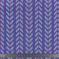 Tissu nepal gots, bleu / rose / blanc 150cm - 495