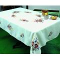 Nappe coton blanc ronde 120 - 55