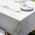 Nappe fil lin blanc 120/120 - 55