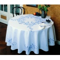 Nappe fil lin blanc carrée 140 - 55