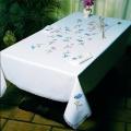 Nappe fil lin blanc 140/200 rectangulaire - 55