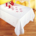 Nappe fil lin blanc 160/240 rectangle - 55