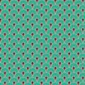 Tissu eventail corail - 64