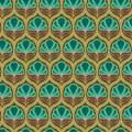 Tissu floral kaki - 64