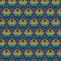 Tissu floral marine - 64