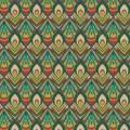 Tissu paon turquoise - 64