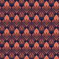 Tissu paon violet - 64