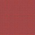 Tissu petite rosace corail aubergine - 64