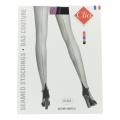Bas couture bicolor porte jarretelle t1 noir/rose - 66