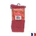 Collant opaque chiné t3 rouge - 66