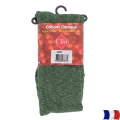 Collant opaque chiné t4 vert - 66