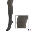 Collant aspect chiné t1/2 noir - 66