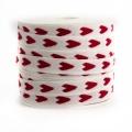 Ruban lin coton coeur 10 mm - 77