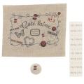 """Kit de customisation """"côté laine rouge"""" sur nat. - 77"""