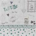 """Coupon """"teatime"""" bleu vert métis blanc - 77"""