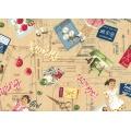 Tissu Yuwa 100% coton motif sewing 3m - 82