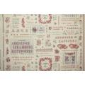 Tissu 100% coton motif point de croix Yuwa 6m - 82
