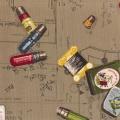 Tissu Yuwa 100% coton motif carte à fils 3m - 82