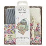 Kit de 6 lingettes Liberty + sac filet - 1000